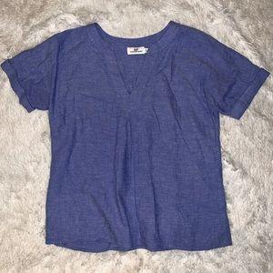 Vineyard Vines Blue Flowy Blouse Shirt